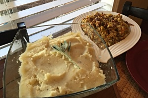 Garlic Mashed Potatoes and Traditional Stuffing